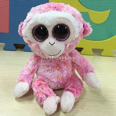 "Soft Toy FROM TY BEANIES BOOS~Monkey RUBY~ 6"" Stuffed toy NO HEART TAG"