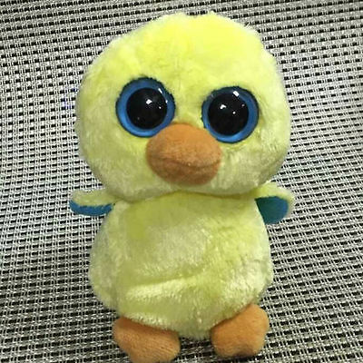 Soft Toy From TY BEANIES BOOS Chick Goldie 6 inch  Stuffed toy NO HEART TAG