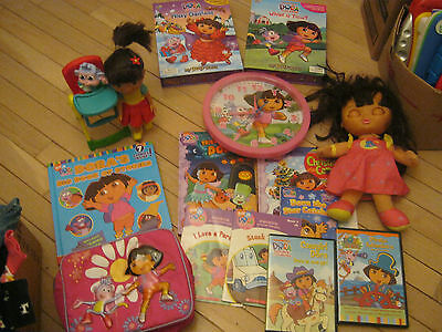 Dora The Explorer Sweet Dreams Dora Dolls Plus Books, Dvd's, A Clock And More
