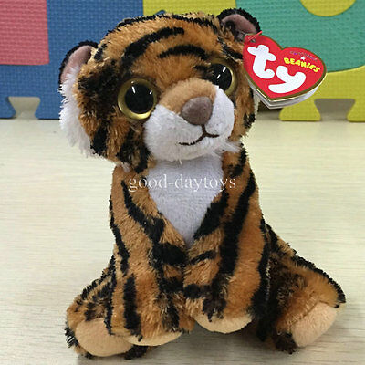 "NEW TY BEANIES BABIES~Tiger Stripers~ 6"" Stuffed toy free ship CUTIE"