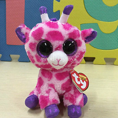 Soft Toy For TY BEANIES BOOS Giraffe Twigs pink  6 inch Stuffed toy Cutie