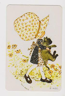Holly Hobby  X 1  Only Single Vintage Play/swapcard.. Sunbonnet Child      ..