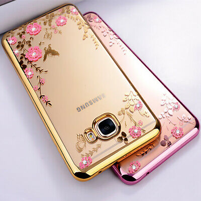 For Samsung S10 S9 S8 Plus ShockProof Soft Phone Cover Glitter Silicone Gel Case