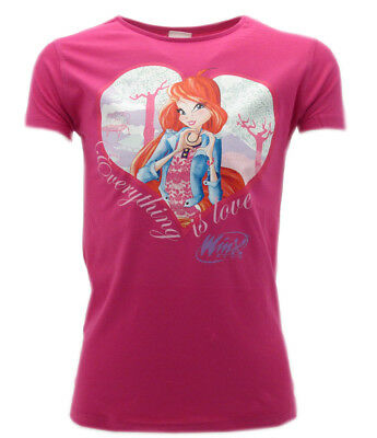 """T-shirt Winx """"Everything is Love"""" Bloom Fucsia"""