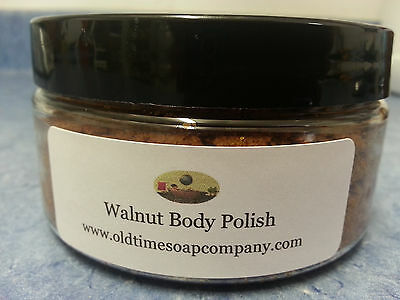 Walnut Body Polish With Organic Aloe Leaf Juice Unscented 8 oz Jar