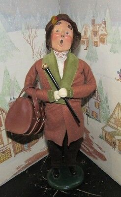 BYERS CHOICE Traveler Man with Bag and Walking Stick 1995    *