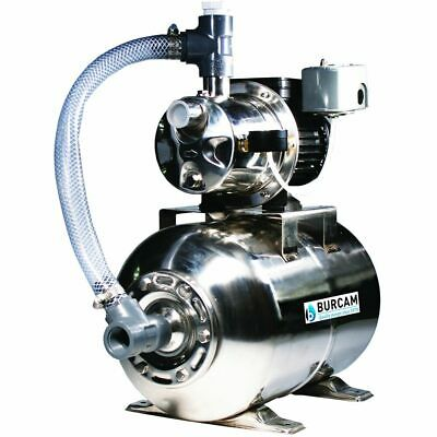 Burcam Pumps 16 GPM 3/4 HP Stainless Steel Shallow Well Jet Pump w/ 6.6 Gal. ...