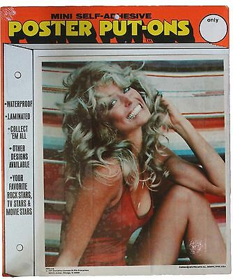 Farrah Fawcett Vintage 1977 Poster Put-On Sticker Sealed In Original Package