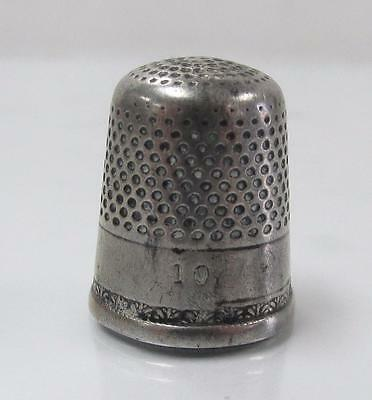 Vintage #10 Sterling Silver Thimble ~ 4.8 grams ~ 3-A8202