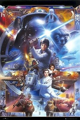 STAR WARS ~ 30TH ANNIVERSARY CAST 24x36 Movie POSTER Tsuneo Sanda Episode