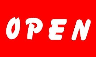 OPEN Flag Red White Store Banner Advertising Pennant Business Sign New 3x5