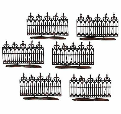 Department 56 Spooky Wrought Iron Fence Halloween Village Accessory Set of 6