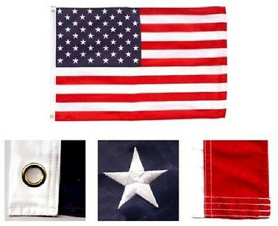 6x10 Foot American Flag HUGE Nylon Embroidered USA Banner United States Pennant
