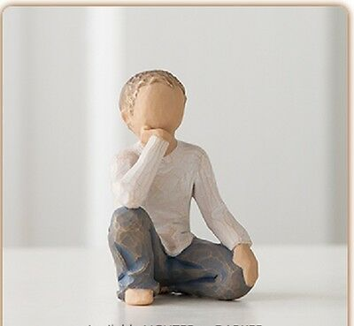 Willow Tree Inquisitive Boy Child Roses in my Garden Figurine Susan Lordi 26227