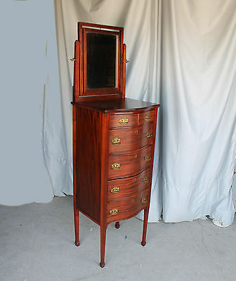 Antique Mahogany Lingerie Chest with adjustable mirror