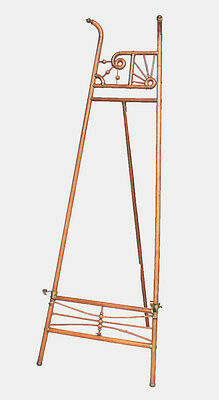 Antique Oak stick and ball Floor Standing Art Display Easel
