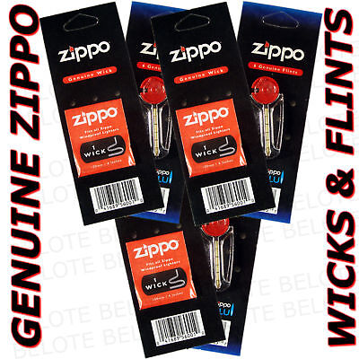 Zippo Replacement Wick & Flint SET 3 of EA Wicks Flints