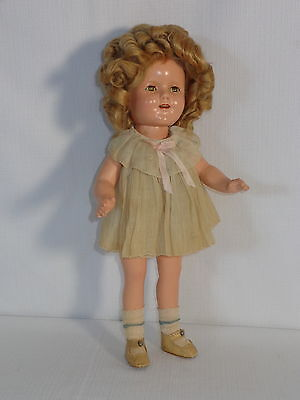 1930s Ideal Doll ~ Shirley Temple ~ with Original Tagged Dress
