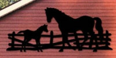 """**NEW** Handmade Lawn Art Yard Shadow/Silhouette - """"Horse and Colt"""" 40"""" x 96"""""""