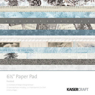 """*A&B* KAISERCRAFT Paper Pads 6.5"""" - Frosted - PP1005 LIMITED STOCK"""