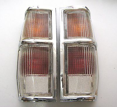 Transparent Tail Lights RH and LH Pair for Datsun Truck 720 1983-1984
