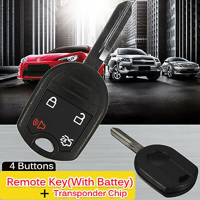 New Uncut Head Ignition Key Entry Remote Combo Fob Transponder Chip 63 For Ford