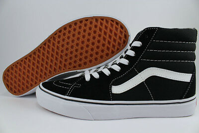 Vans Sk8-Hi Black/true White Canvas Suede Skate High Boys Girls Kids Youth Sizes