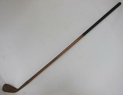 """ANTIQUE HICKORY SHAFTED """"CARDINAL"""" MASHIE GOLF CLUB by W S COLLINS 1900 g"""