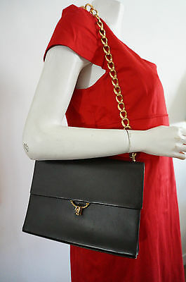 SAC FENDI bag VINTAGE vtg 60 chaine doree cuir leather CHIC luxe cOllecTOR retro