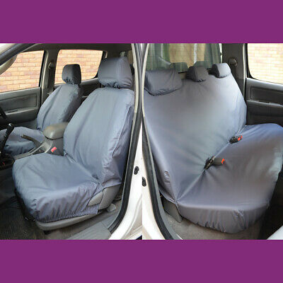 Double Cab Front & Rear Grey Seat Covers FOR Toyota Hilux Invincible 2005-2016