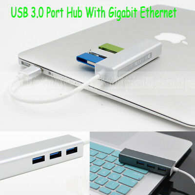 USB 3.0 to LAN/RJ45 Gigabit Ethernet Network Cable Adapter and 3 USB3.0 Port Hub
