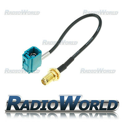 GPS / Aerial Adapter Lead Cable SMA plug to 90° Fakra Socket 0.15m