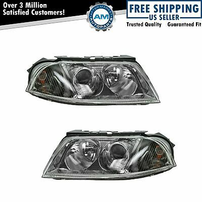 New Replacement Headlight Assembly PAIR FOR 2001-05 CHRYSLER PT CRUISER