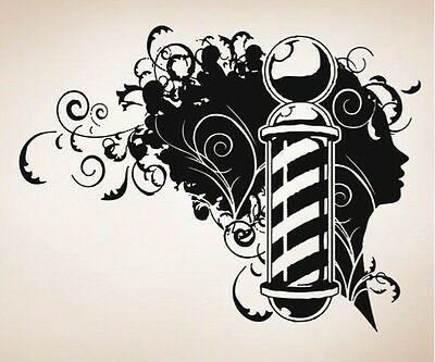 Vinyl Wall Decal Sticker Barbershop Design OS_AA594B 78W x 60H