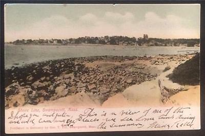 Shore Line, Swampscott, Mass. Undivided Back, Posted