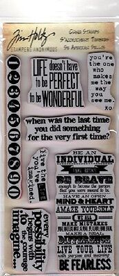 TIM HOLTZ Stampers Anonymous PHRASES Cling Stamps