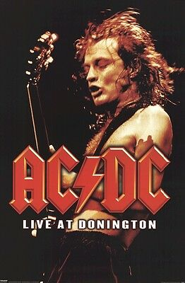 AC/DC ~ DONINGTON LIVE 24x36 POSTER Music Angus Young ACDC AC-DC NEW/ROLLED!