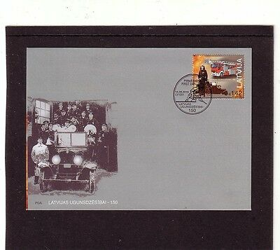 Latvia 2015 Fire Fighting Fire Engine First Day Cover FDC