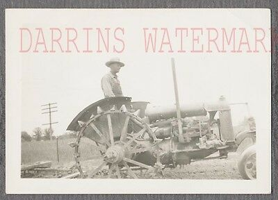 Vintage Photo Man on Fordson Farming Tractor Ford 692854