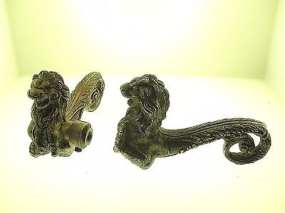 Antique Pair Of Door Handles With Lion Heads - Fantastic Quality - Best Offer!!!
