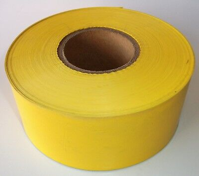 """Yellow Blank Caution Tape 3"""" X 1000 Ft Roll 2 Ml Thick New Full Length"""