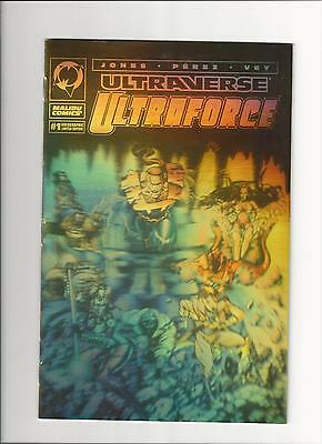 Ultraverse Comic Ultraforce # 1 Ultra Rare Gold Hologram Variant