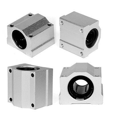 4Pcs SC20UU 20mm Aluminum Linear Motion Ball Bearing Slide Bushing For CNC