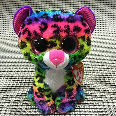 """Soft Toy From  TY BEANIES BOOS Leopard Dotty 6"""" inch tall Stuffed toy Cutie"""