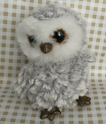 Soft Toy From TY BEANIES BOOS Owl Owlette 6 inch Stuffed toy Without heart tag