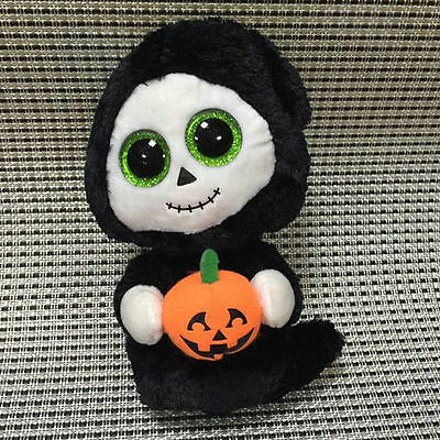 Soft Toy From TY BEANIE BOOS Halloween Ghost Treats Punkin Stuffed no heart tag