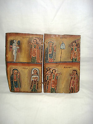 Beautiful Handpainted and Handcarved Ethiopian COPTIC CHRISTAIN icon
