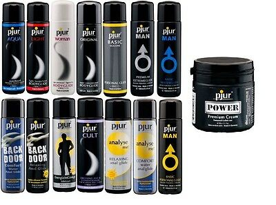 Pjur Lubricants Dressing Aid Various Sizes of Silicone Water Anal Vaginal
