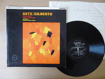 Stan Getz / Joao Gilberto ‎– Getz / Gilberto, UK 1.press, MONO, LP ,Vinyl: vg++