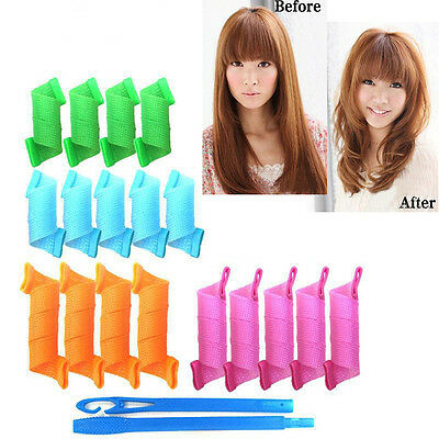 Magique Cheveux Rouler DIY 18pcs Leverag Curlers Formers Spiral Styling Rouleaux